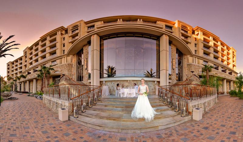 Bride On Back Steps